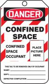 - Confined Space Status Safety Tag: Danger Confined Space