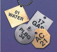 - Custom Metal ID Tags - Brass