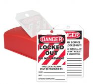- OSHA Danger QuickTags™: Locked Out - Do Not Remove