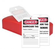 - OSHA Danger QuickTags™: Barricade Tag