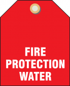 - Valve Identifier Plastic Tag - Fire Protection Water