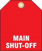 - Valve Identifier Plastic Tag - Main Shut-Off
