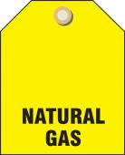 - Valve Identifier Plastic Tag - Natural Gas