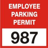 - Cling Labels: Employee Parking Permit