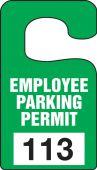 - Vertical Hanging Parking Permit: Employee Parking Permit