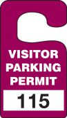 - VERTICAL HANGING TAGS: VISITOR PARKING PERMIT