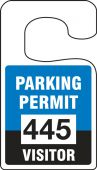 - VERTICAL HANGING TAGS: PARKING PERMIT VISITOR