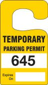 - Vertical Hanging Parking Permit: Temporary Parking Permit