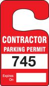 - Vertical Hanging Parking Permit: Contractor Parking Permit