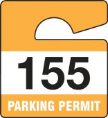 - SMALL VERTICAL HANGING PARKING PERMIT:PARKING PERMIT
