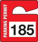 - Parking Permit: Small Vertical Hanging Parking Permit