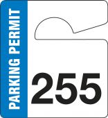 - SMALL VERTICAL HANGING PARKING PERMIT: PARKING PERMIT