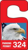 - VERTICAL HANGING TAGS: PARKING PERMIT AMERICAN PRIDE EAGLE