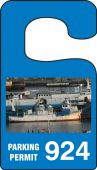 - VERTICAL HANGING TAGS: PARKING PERMIT IMAGE OF SHIP