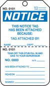 - OSHA Notice Safety Tag: This Notice Tag Has Been Attached Because- Perforated