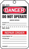 - OSHA Danger Safety Tag: Do Not Operate - Perforated