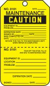 - Caution Repair Tags: Maintenance - Perforated