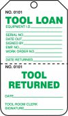 - Safety Tag: Tool Loan/Tool Return - Perforated