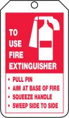 - Fire Extinguisher Safety Tag: Fire Extinguisher Instructions