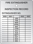 - Fire Extinguisher Inspection Tag