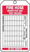 - Fire Inspection Status Safety Tag: Fire Hose Inspection And Test Record