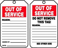 - Out Of Service Tags