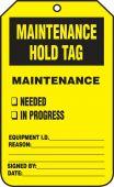 - Jumbo Record Status Safety Tag: Maintenance Hold Tag