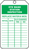- Jumbo Inspection Status Safety Tag: Eye Wash Station Inspection