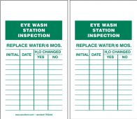 - Eyewash Inspection Tags And Status Record Tags - Eye Wash
