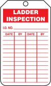 - Jumbo Ladder Status Safety Tag: Ladder Inspection
