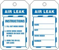 - Inspection Status Safety Tag: Air Leak