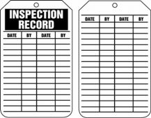 - Safety Tag: Inspection Record