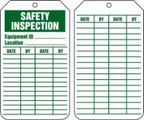- Equipment Status Safety Tag: Safety Inspection