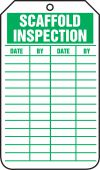 - Equipment Status Safety Tag: Scaffold Inspection