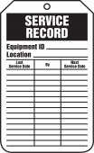 - Equipment Status Safety Tag: Service Record