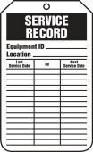 - Jumbo Equipment Status Safety Tag: Service Record