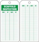 - Jumbo Scaffold Status Safety Tag: Scaffold Inspection
