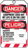 - Bilingual OSHA Danger Lockout Tag: Equipment Lock-Out - My Life Is On The Line!