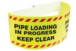 - Trailer Warning Flag: Pipe Loading in progress, Keep Clear