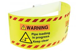 - Trailer Warning Flag: Warning, Pipe Loading in progress, Keep Clear