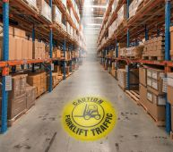 - LED Sign Projector: Caution - Forklift Traffic
