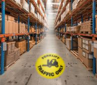 - LED Sign Projector: Forklift Traffic Only
