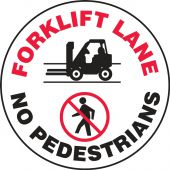 - LED Sign Projector Lens Only: Forklift Lane - No Pedestrians