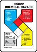- NFPA Notice Chemical Hazard Safety Sign
