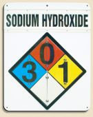 - Chemical Identification NFPA Flip Placard Sign