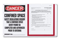 - OSHA Danger Permit Holder Board: Confined Space - Safety Regulations Require