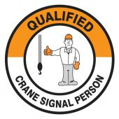 - Hard Hat Stickers: Qualified Crane Signal Person
