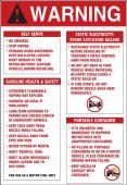- Warning Safety Label: Fuel Pump Information