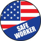- Hard Hat Stickers: Safe American Worker