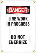 - OSHA Danger Utility Pole Wrap: Line Work In Progress Do Not Energize